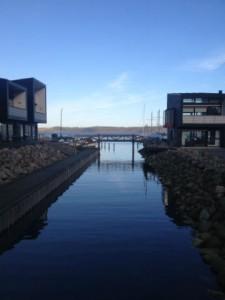 Udsigten fra Brejning havn