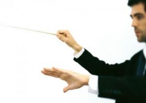 dirigent der sætter tonen