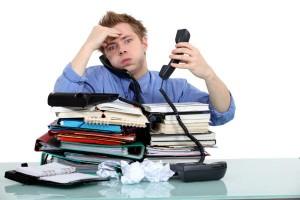 stress - overbelastet mand