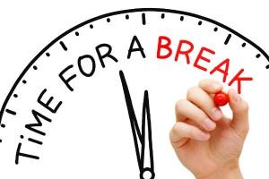 stress reducering indfør pause tid
